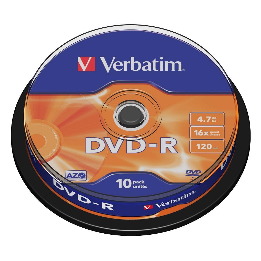 Dvd-r Verbatim Χ16-4.7GB 10 τεμάχια - 1