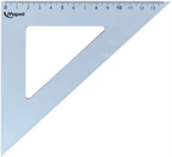 Ορθογώνιο τρίγωνο Maped Cristal 21 cm 60° - 1