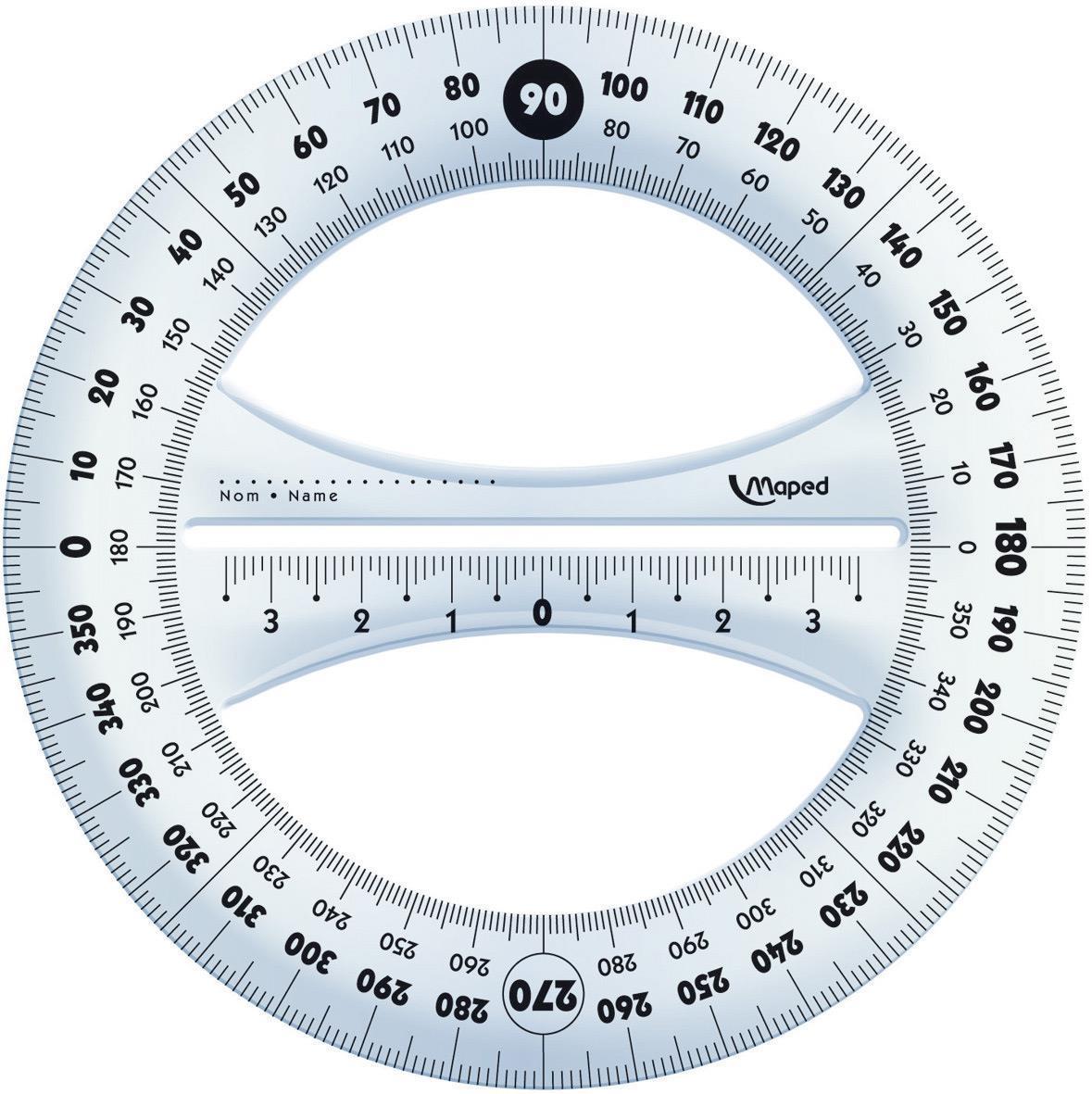 Μοιρογνωμόνιο Maped 360° 12 cm - 1