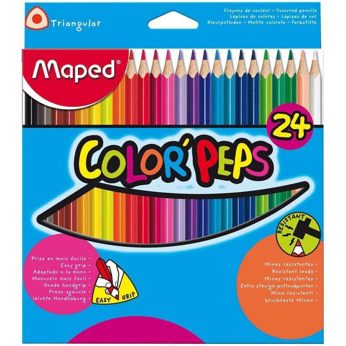 Ξυλομπογιές Maped Color' Peps 24 χρωμάτων - 1