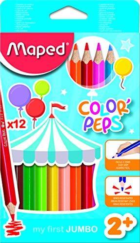 Ξυλομπογιές Maped Color Peps My First Jumbo 12 Χρωμάτων - 1