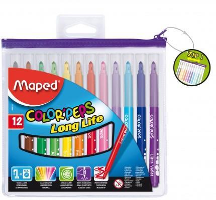 Μαρκαδόροι ζωγραφικής Colorpeps σε πλαστική θήκη 12 χρωμάτων - 1