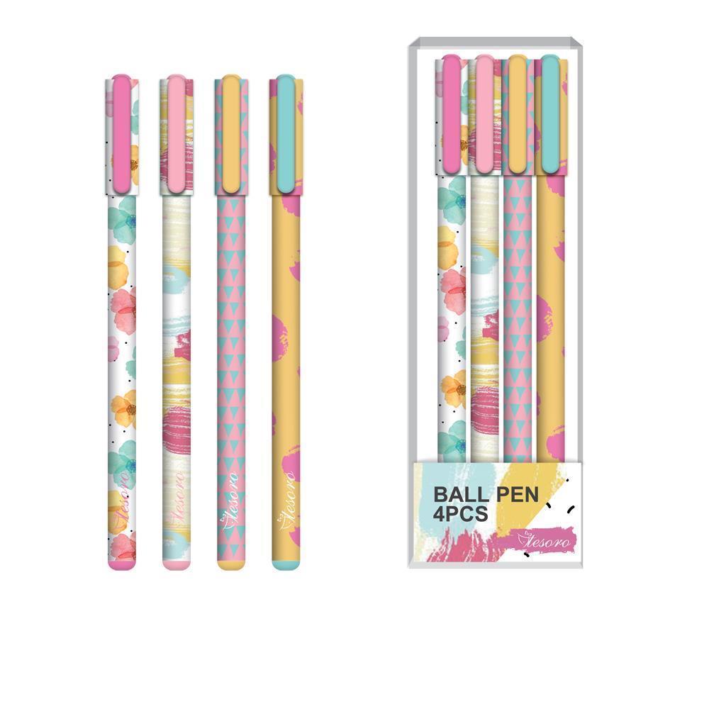 Στυλό Tesoro 4 τεμ.  fresh collection - 1