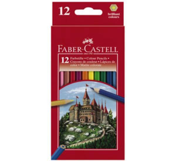 Ξυλομπογιές Faber Castell fight nighty 12 χρωμάτων - 1