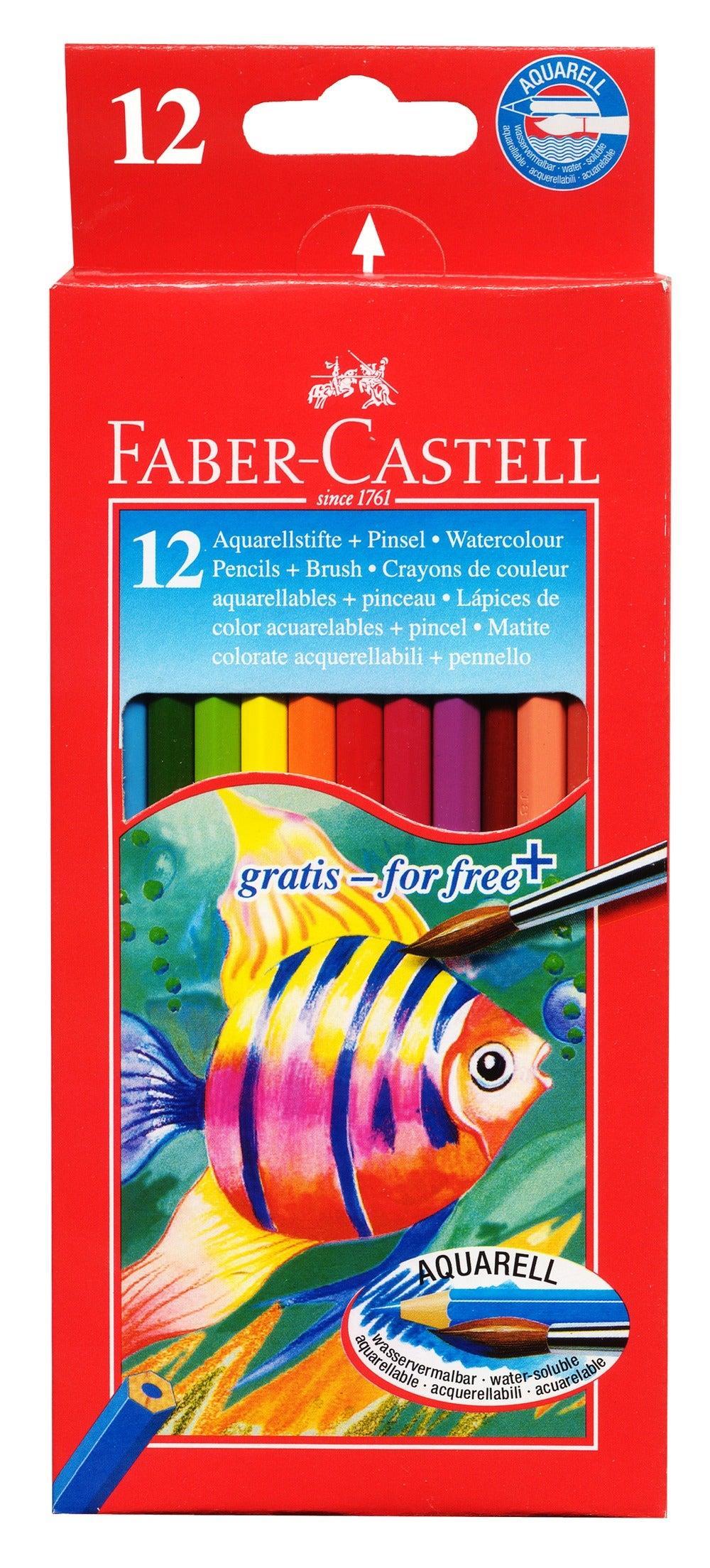 Ξυλομπογιές Faber Castel Aquarell 12 χρωμάτων - 1