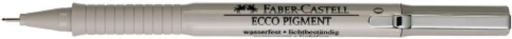 Μαρκαδόρος σχεδίου Faber castell ecco pigment μαύρο - 1