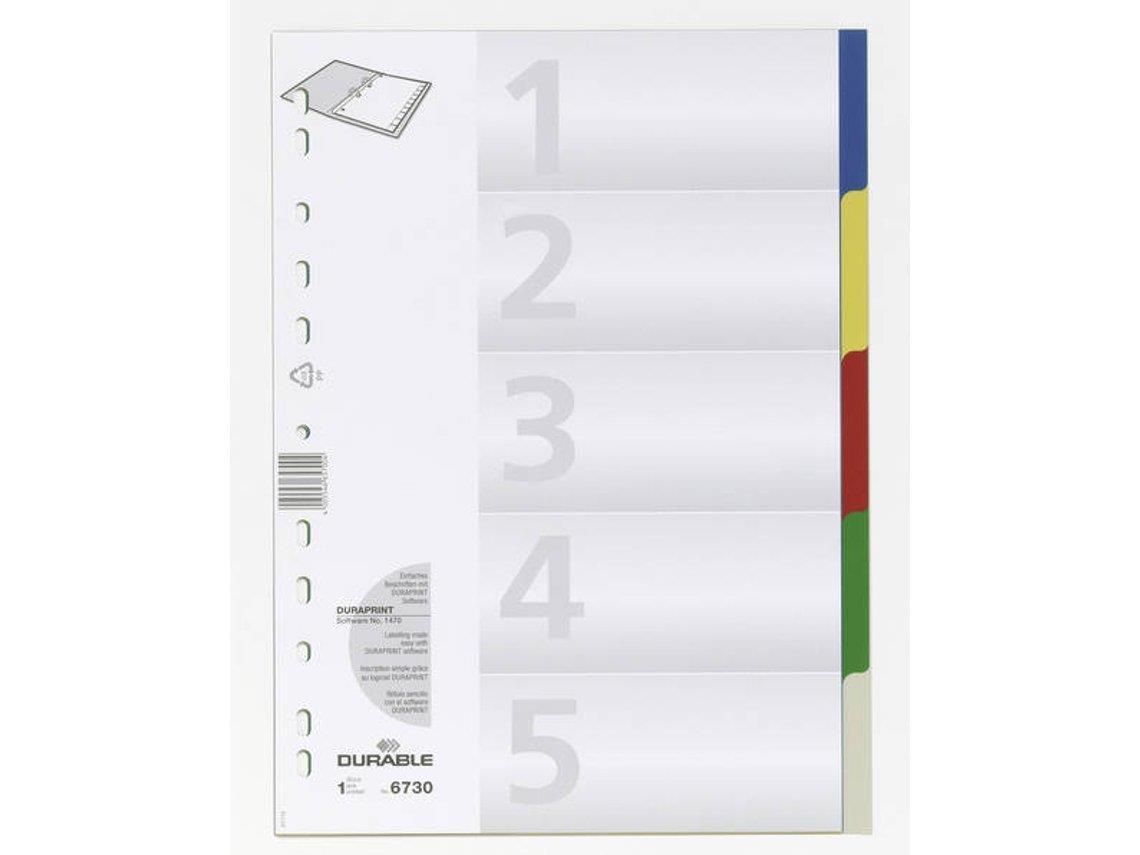 Διαχωριστικά Durable PP 5 χρωμάτων - 1