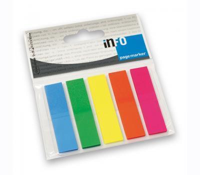 Σελιδοδείκτες Info neon 5 χρωμάτων - 1