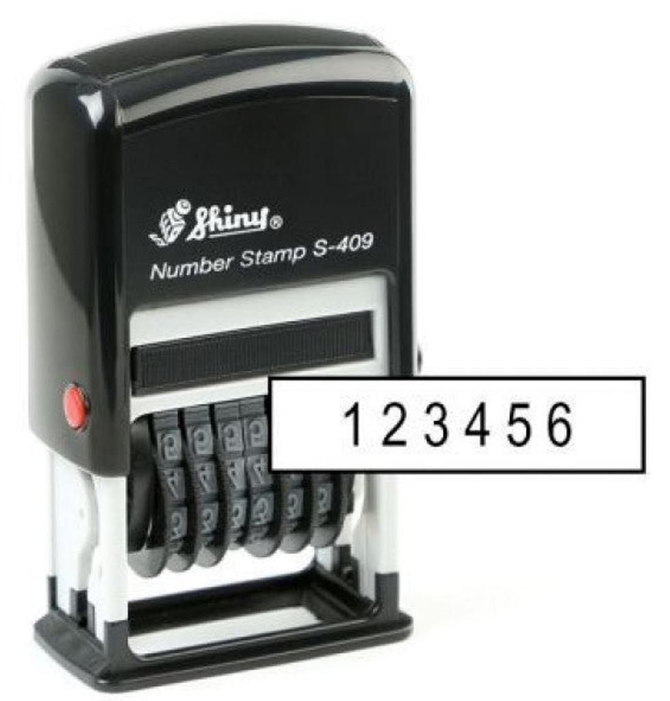 Σφραγίδα Shiny S-409 6 ΨΗΦΙΩΝ - 1
