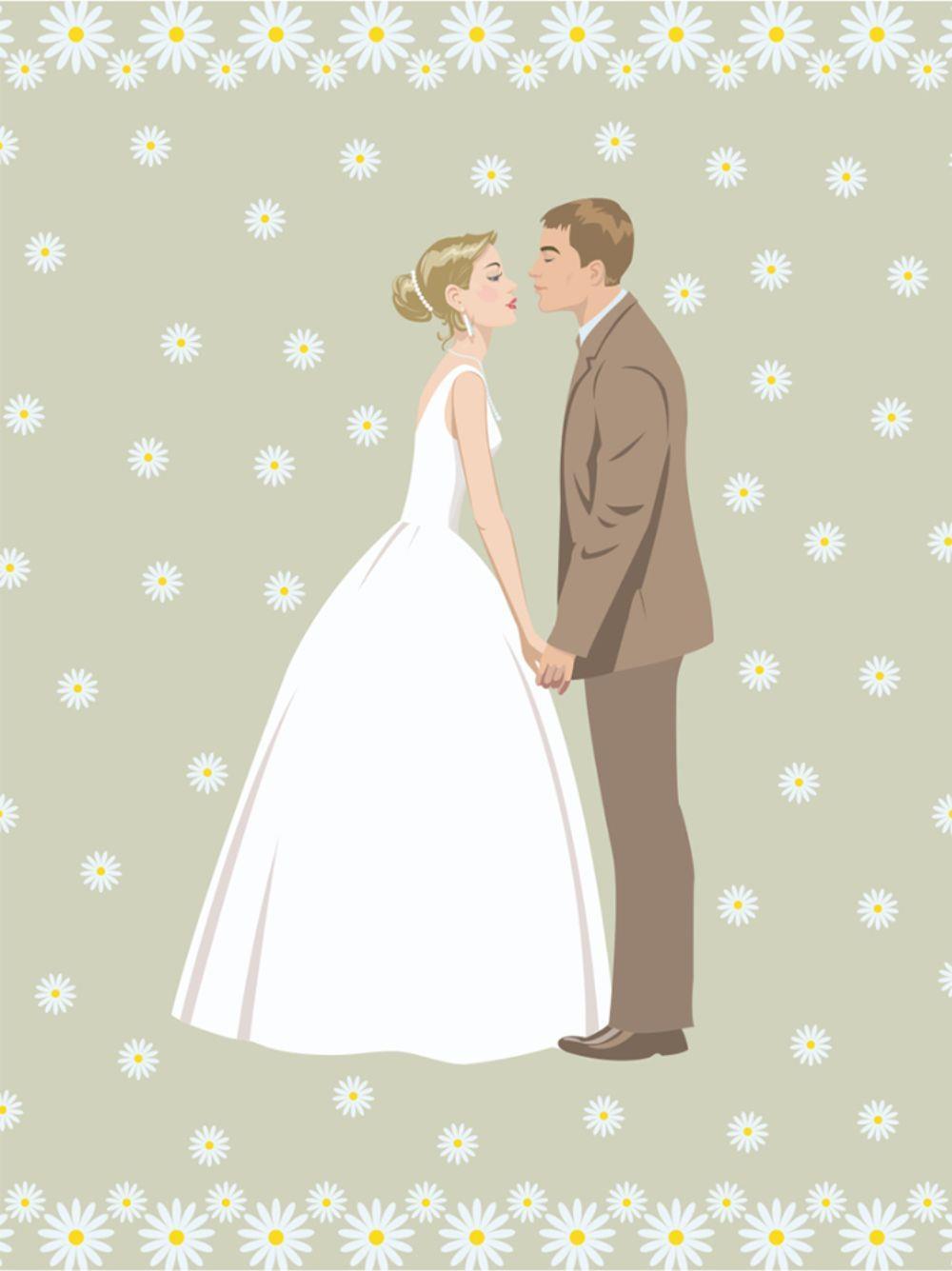 Κάρτα ευχετήρια 12x16 cm Γάμος 54 - 1
