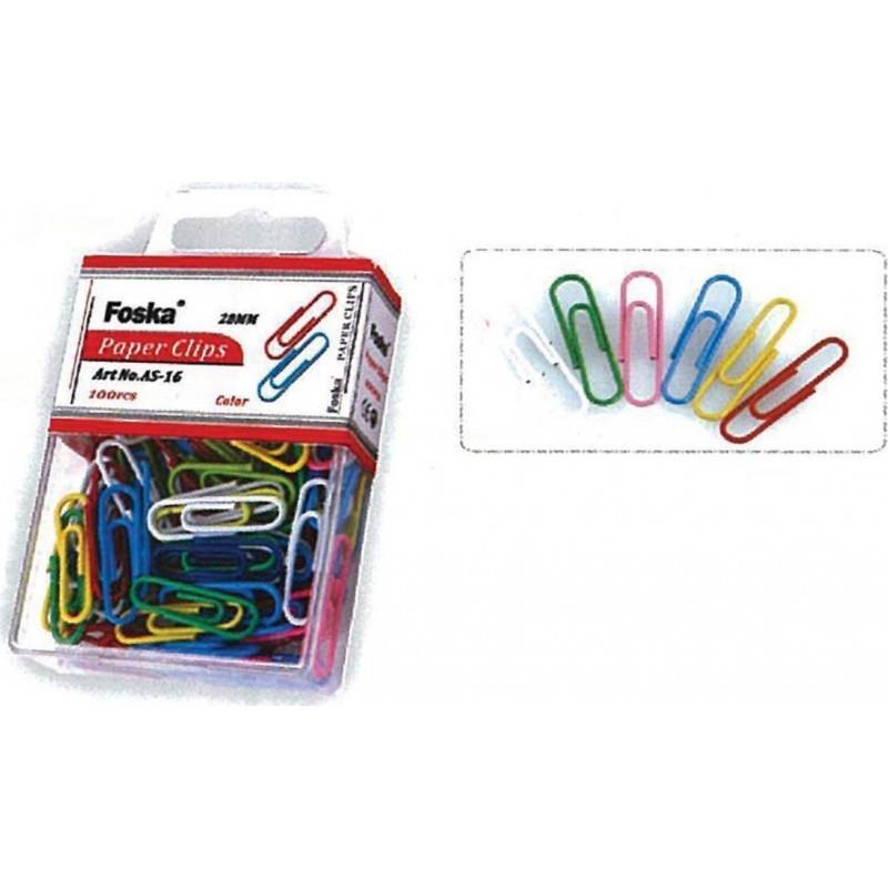 Συνδετήρες χρωματιστοί Foska 50 mm 100 τεμ. - 1