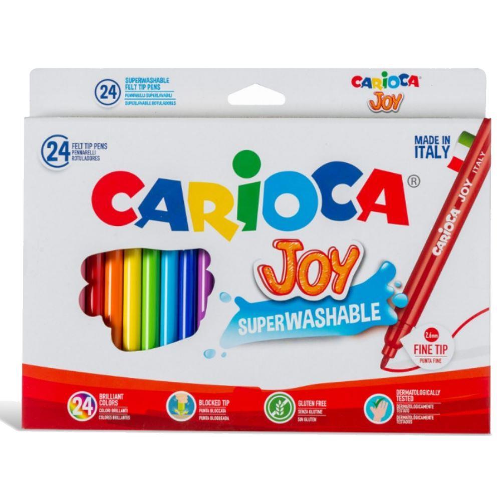 Μαρκαδόροι ζωγραφικής Carioca super joy 24 χρωμάτων 40615 - 1