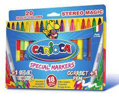 Μαρκαδόροι ζωγραφικής χονδροί Carioca top superwashable 12 χρωμάτων - 1