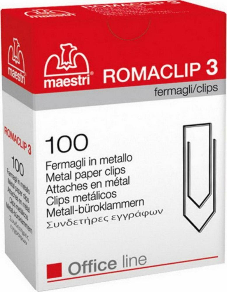 Συνδετήρες Romaclip Nο3 100 τεμ. - 1