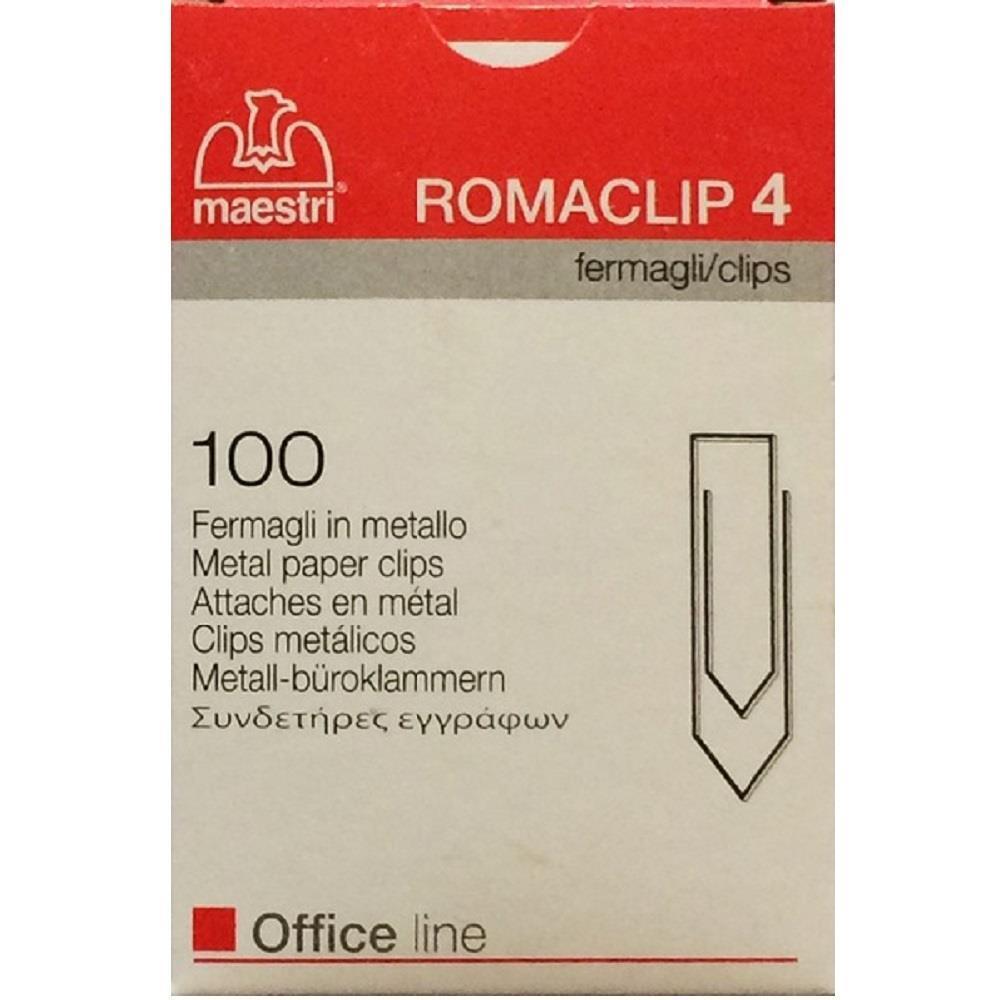 Συνδετήρες Romaclip Νο4 100 τεμ. - 1