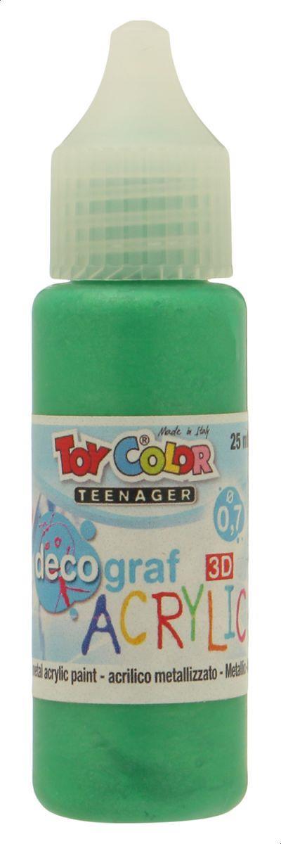 Ακρυλικό χρώμα Toy Color Teenager Deco Graf acrylic 25ml πράσινο - 1