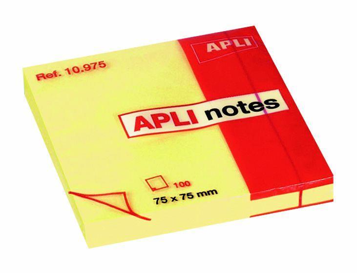 Χαρτάκια σημειώσεων αυτοκολλητα 75χ75 mm κίτρινα - 1