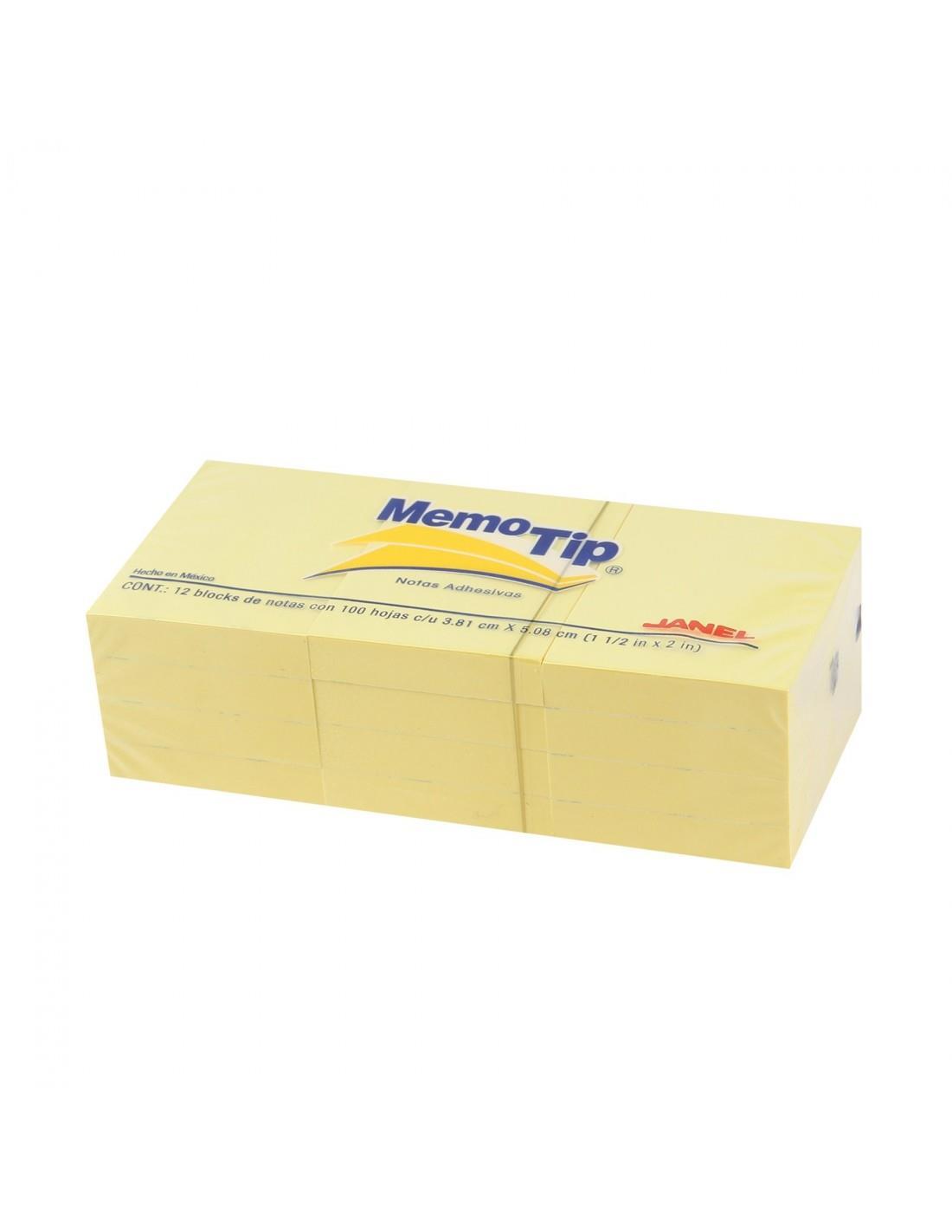 Χαρτάκια σημειώσεων αυτοκολλητα 38x51 mm κίτρινα - 1