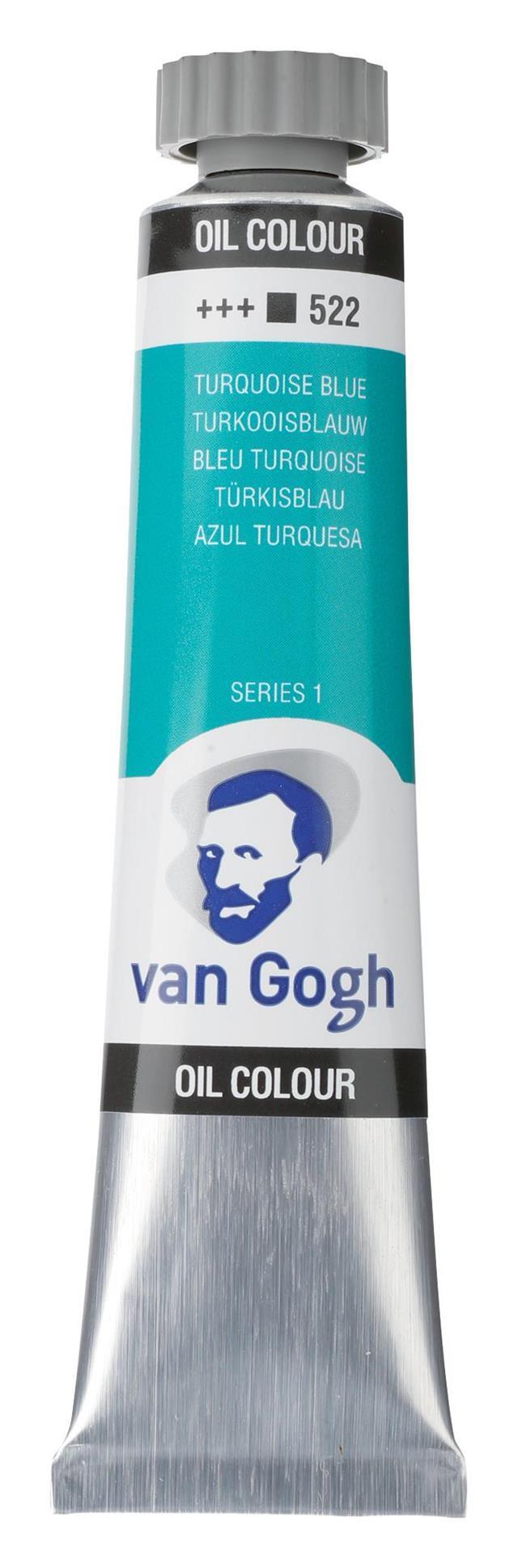 Χρώμα λαδιού Van Gogh 20ml 522 Turquoise Blue siries - 1