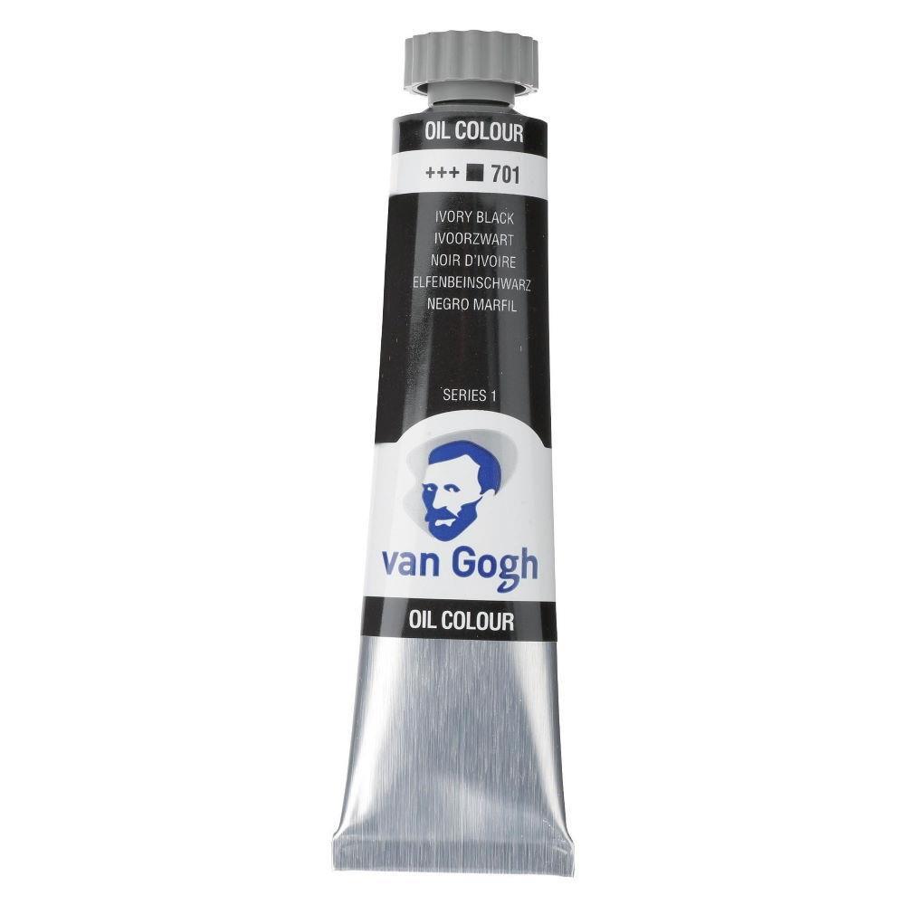 Χρώμα λαδιού Van Gogh 20ml 701 Ivory Black - 1